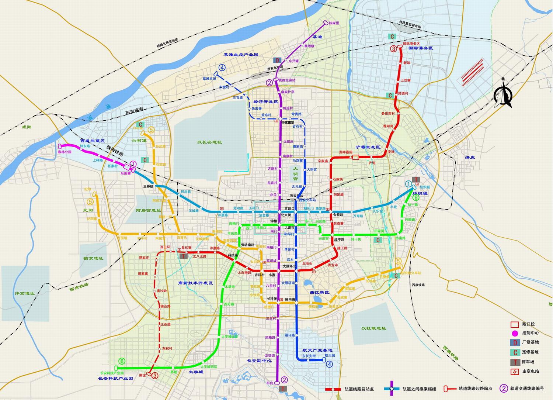 西安地铁线路图